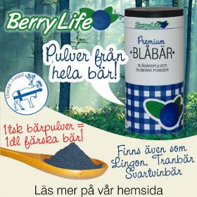 100% naturligt - Berrylife bärpulver